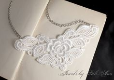 Maxine lace necklace by JewelsbyLaLiAna on Etsy