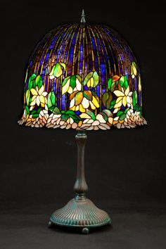 (no title) Dragonfly 2 Light Floor Lamp in Tiffany Style 18 Shade Base Antique Bronze Patina .Tiffany style dragonfly 2 light floor lamp 18 shade base antique bronze patina - tiffany lamps - ideas from Stained Glass Lamp Shades, Tiffany Stained Glass, Stained Glass Art, Glass Shades, Chandelier Design, Tiffany Ceiling Lights, Tiffany Lamp Shade, Lotus Lamp, Nightstand Lamp