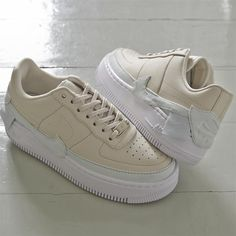 d84a3f85cf1 Nike Air Force 1 Jester Trainers Light Cream Ghost Aqua White - Hers  trainers