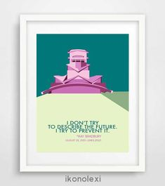 Excited to share the latest addition to my #etsy shop: Mid-century modern, geometry art, Ray Bradbury, Fahrenheit 451, science fiction art, wall prints, famous life quotes, poster design, decor http://etsy.me/2AAT6bK #art #print #digital #midcentury #christmas #modern