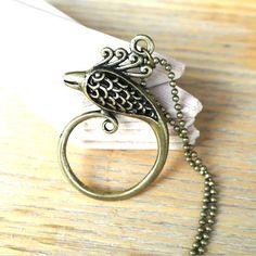 10% SALE Necklace Antique Bronze Phoenix Bird Pendant Necklaces Gift. £7.69, via Etsy.