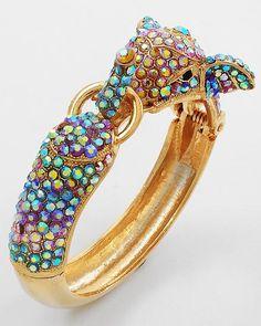 Iridescent Crystal Elephant Bracelet on Emma Stine Limited