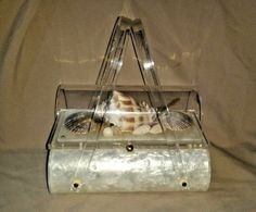"""Rare 1954 Harry Litwin Of NY Lucite """"Coffin Bag"""" Purse Seashells EXCELLENT! #HarryLitwin #Purse"""