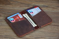 Wallet Leather Wallet Personalized Leather by RockyLeatherDesign