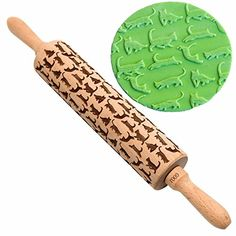 Cat Engraved Rolling Pin By Gooj  Wood Rolling Pin  Impressed With Fun Cat Designs  Perfect For Baking With Kids  Dough  Fondant  Cookies Crusts Pies  Pastry  Clay  Crafts -- More info could be found at the image url.Note:It is affiliate link to Amazon.