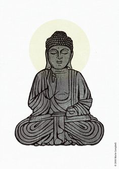 Simple Buddha Drawing This buddha illustration is a