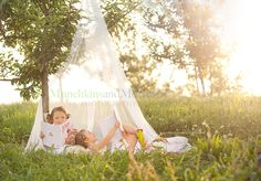 tulle tent, books, perfect day- - gorgeous!!