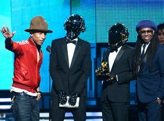 Daft Punk, Pharrell Williams and Nile Rodgers from 2014 Grammy Awards: Winners!   E! Online
