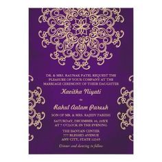 #weddinginvitation #weddinginvitations (PURPLE AND GOLD INDIAN STYLE WEDDING INVITATION) #ArabianNightsMoroccanAladdinTheme #ElegantSophisticatedPrettyStylish #FloralLotusMedallionUpscale #FormalFancyDesignerBeautiful #HinduIndonesianChineseChinaIndia #IndianEasternAsianEthnicExotic #PatternDesignDecorativeSunburst #PurpleAmethystGoldMetallicLuxe #UniqueFeminineLaceDoilyCouture #WeddingEngagementAnniversaryParty is available on Custom Unique Wedding Invitations  store  http://ift.tt/2atafe9