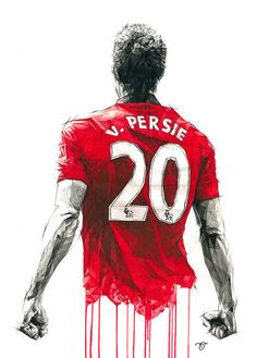 Van Persie - Sporting figures by Dave Merrell Manchester United Wallpaper, Manchester United Team, Soccer Art, Football Art, Football Players, Kids Soccer, Tattoo Futbol, Robin Van, Van Persie