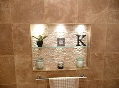 Love an inset w texture contrast Spa Bathroom Remodel contemporary bathroom