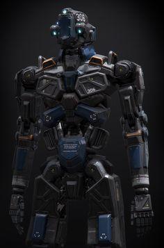 Humanoid Robot Project, Alan Van Ryzin on ArtStation at http://www.artstation.com/artwork/humanoid-robot-project