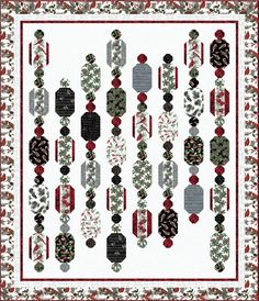 Cardinal Carols - Winter Garland Free Quilt Pattern #freepattern #winter #christmas #quilting
