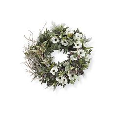 Natural Elements Wreath (5985985 BYR) ❤ liked on Polyvore featuring home, home decor, outdoor winter wreaths, frontgate, eucalyptus wreath, winter centerpieces and artificial wreaths