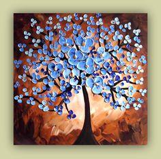 Blue Tree Painting