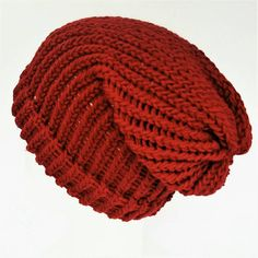 Check out this item in my Etsy shop https://www.etsy.com/uk/listing/547898477/red-slouchy-hat-girls-slouch-hat-knitted