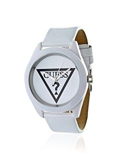 650adf797d0 Guess Womens Anniversary White IP Stainless Steel Case Patent Leather Strap  Watch W65014L1