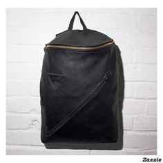 Black Leather Oscar Backpack With Custom Interior