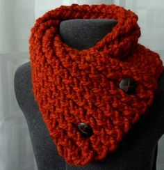 "I typed in ""crocheted collar/scarf with buttons"" and got a zillion clever variations of this. Any of my friends crochet? No instructions but basic crochet pattern @Emily Schoenfeld Honore I think this is super cute!! a cool twist on a scarf!"