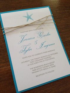 love beach wedding invitation seashells by jacquelineanninvites