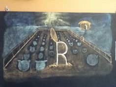 The Rabbit's Bride: a Waldorf chalkboard drawing from the Grimm's Fairy Tale   Frugal + Urban