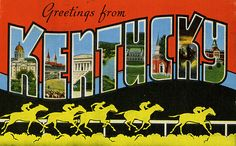 Kentucky large letter greetings