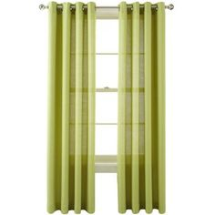 MarthaWindow™ Provence Weave Grommet-Top Curtain Panel  found at @JCPenney  -- Green Banana