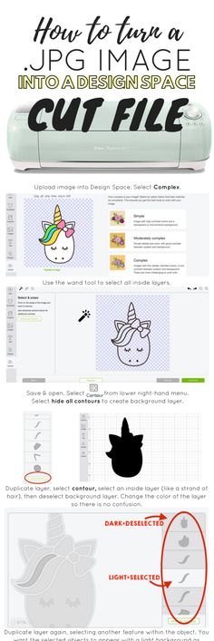 How to Upload Images to Cricut Design Space [Simplified This is a simple tutorial for how to upload images to cricut design space. Use this guide to help you upload a JPG image and turn it into an SVG that you are able to cut with your Cricut. Cricut Air 2, Cricut Help, Cricut Vinyl, Cricut Craft, Hobby Craft, Cricut Stencils, Cricut Monogram, Cricut Uk, Cricut Apps