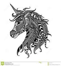 Bilderesultat for unicorn drawing
