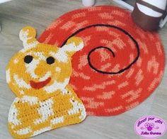 Amor por Art em Crochê: Tapete Infantil de Crochê em Formato de Caracol