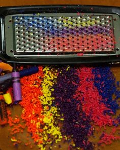 Science Fair: Crayon Rock Cycle Experiment