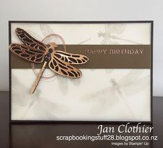 Stampin' Up! Dragonfly Dreams, Scrapbooking Stuff: Create with Connie and Mary 437 Bee Cards, Stamping Up Cards, Butterfly Cards, Sympathy Cards, Masculine Cards, Creative Cards, Greeting Cards Handmade, Scrapbook Cards, Homemade Cards