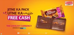 Paytm Britannia Offer - Get Rs 20 Free Paytm Cash on Every pack of Rs 10 or Rs 20, Paytm Bourbon offer, Free Paytm Cash on Biscuit.  http://rechargetricks.in/buy-britannia-bourbon-biscuit-and-get-free-paytm-cash-on-every-biscuit.html  #Paytm #Britannia #offer