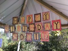 Cowgirl Party Burnt Paper Birthday Banner!!!