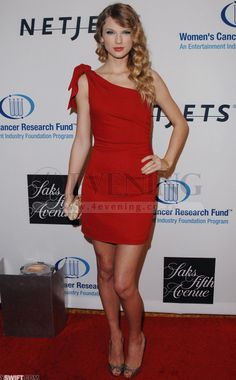 Taylor Swift Red Hot Mini Short Party Red Chiffon Celebrity Evening Dress(CD4E-697)