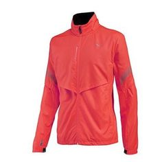 With the low visibility in winter it's really important to stay seen. Saucony Sonic Vizi Jacket has a rechargeable front and back lighting and reflective elements.