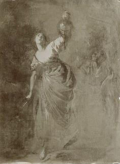 Cavallino Bernardo - Giuditta con la testa di Oloferne - particolare, sec. XVII.