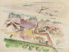 John Marin (1870-1953)  Dunescape  signed and dated 'Marin 23' (lower right)  watercolor and charcoal on paper  9½ x 12½ in. (24.1 x 31.8 cm.)