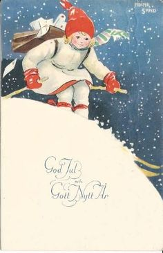 swedish christmas postcard