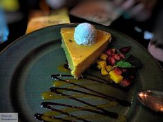 Mango pie - Dessert: chocolate cake or mango pie.  Yak & Yeti Restaurant provides fine table-service dining during lunch and dinner. Situated at the base of Mt. Everest in the small town of Anandapur in the Asia area of Disney's Animal Kingdom Theme Park, this grand old house turned restaurant sets out adventurous meals of Asian cuisine that combines flavors from China, India and Nepal.