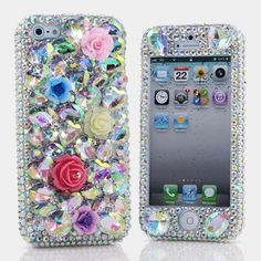 Style # 715 This Bling case can be handcrafted for iPhone 4/4S, 5, 5S, all Samsung Galaxy models (S3, S4, Note 2, 3). Our professional designers will handcraft a case for you in as little as 2 weeks. Click image for direct link