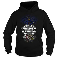 PLANTED IN INDIANA WITH ILLINOIS ROOTS T-Shirts, Hoodies. ADD TO CART ==► https://www.sunfrog.com/LifeStyle/005-PLANTED-IN-INDIANA-WITH-ILLINOIS-ROOTS-108745487-Black-Hoodie.html?id=41382