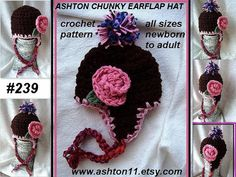 hat crochet patternchunky style ear flap hat baby to by ashton11 499