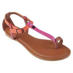 Womens' Hailey Jeans Co  Multi-color T-strap Sandals