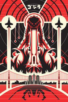 by RyanGuyatt | 9 Godzilla Posters That Inspire Greatness