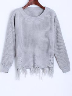 GET $50 NOW | Join Zaful: Get YOUR $50 NOW!http://m.zaful.com/fringed-ripped-sweater-p_236501.html?seid=1020248zf236501