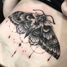 Image result for neo traditional moth tattoo