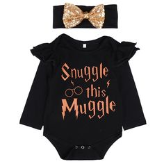 Snuggle this Muggle Newborn Baby Girls Romper Clothes Long Sleeve Infant Bebes Inspired Onesies Outfit Sunsuit Harry Potter Body, Harry Potter Baby Clothes, Harry Potter Onesie, Harry Potter Baby Shower, Baby Set, Baby Love, Baby Girls, Baby Girl Newborn, Baby Girl Stuff
