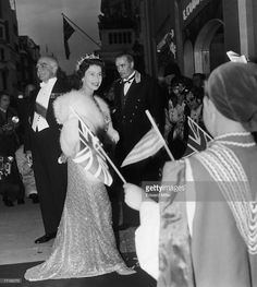 Queen Elizabeth II arrives at Claridges Hotel in London, as the guest of a banquet held by King Paul and Queen Frederika of Greece, 11th July 1963.