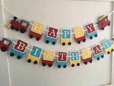 Items similar to Train Birthday Banner/ Train Birthday Party/Boys Banner/Train Party Banner/ Customized Banner/Personalized Birthday Banner/Yellow/Blue/Red on Etsy Train Birthday Banner Train Birthday Party by PinkPaperCottage Thomas Train Birthday, 2nd Birthday Boys, 2nd Birthday Party Themes, Diy Birthday Banner, Trains Birthday Party, Birthday Ideas, Train Party Decorations, Birthday Decorations, Its A Boy Banner